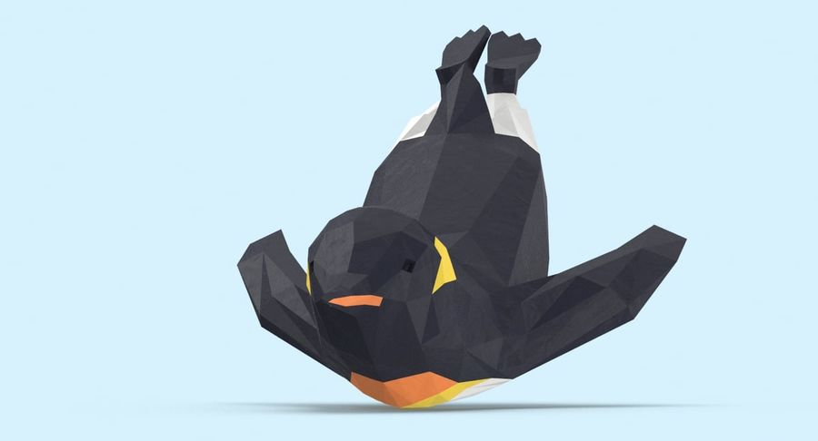 Penguin  Jumping royalty-free 3d model - Preview no. 9
