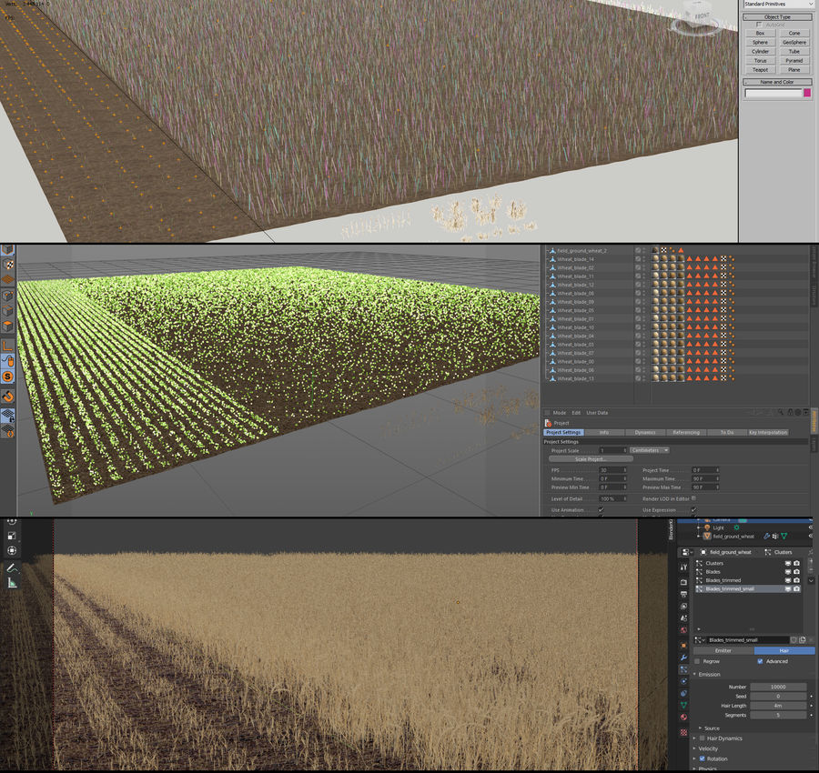 Wheat Field (+GrowFX) royalty-free 3d model - Preview no. 12