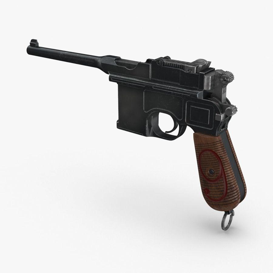 Mauser Tabanca Birinci Dünya Savaşı 3D Model $29 -  max  upk