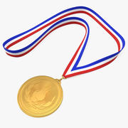 体育奖章 3d model