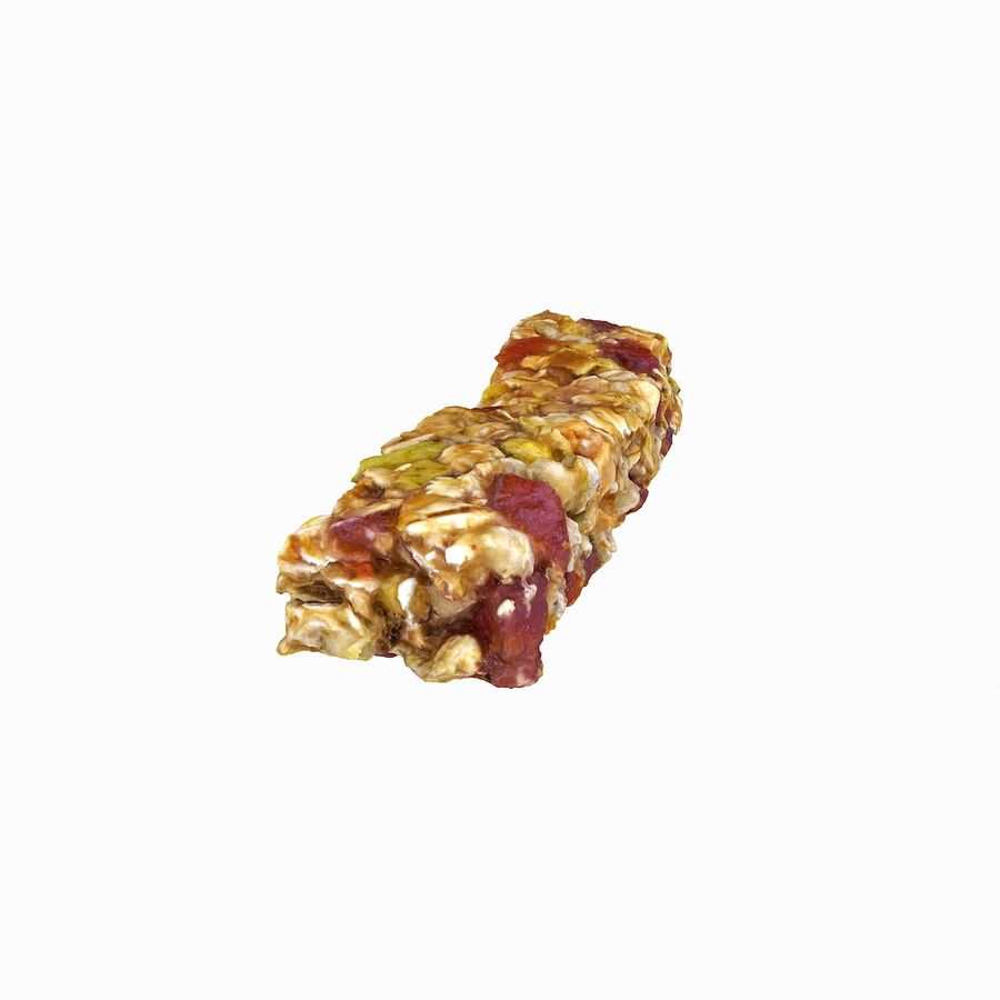 Realistic Cereal Bar royalty-free 3d model - Preview no. 9