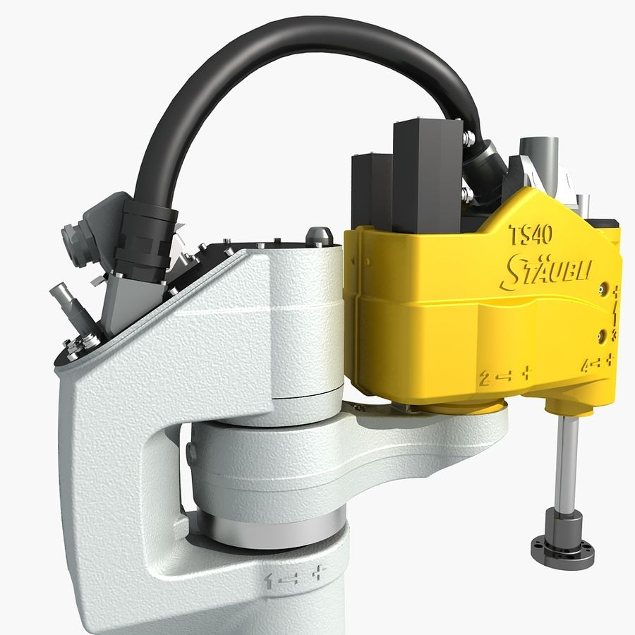 Staubli TS40 Industrial Robot royalty-free 3d model - Preview no. 9