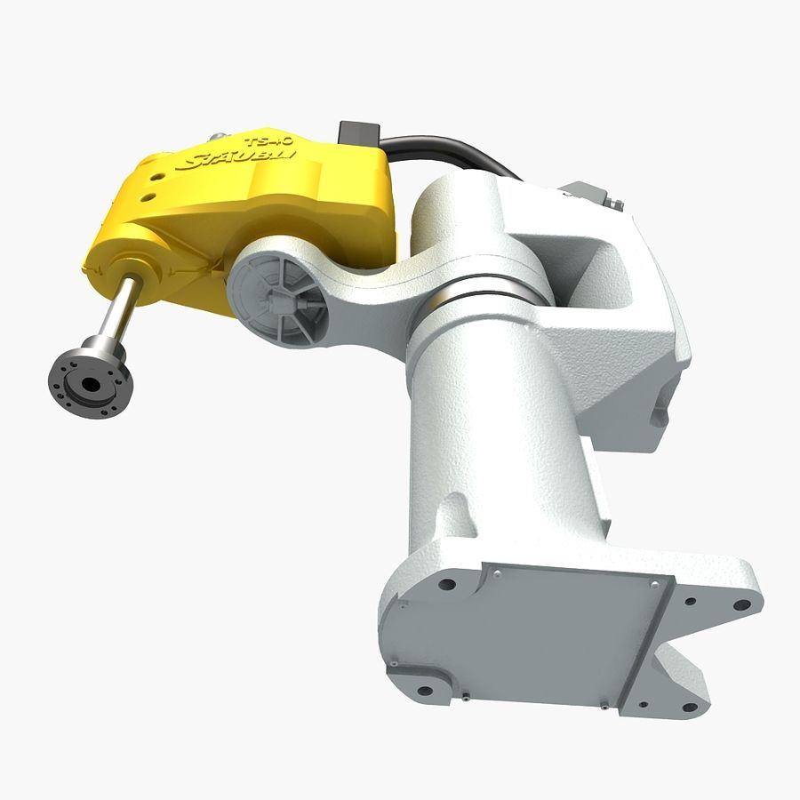 Staubli TS40 Industrial Robot royalty-free 3d model - Preview no. 7