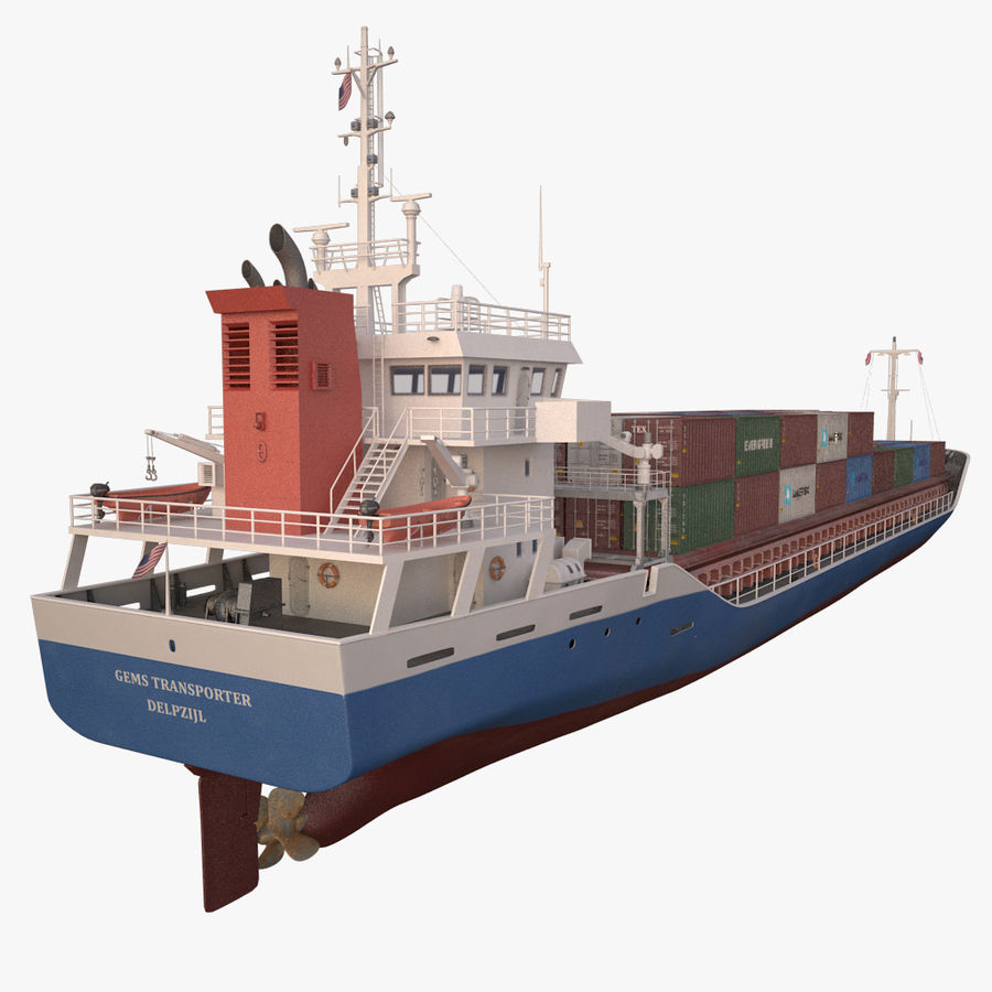 nave cargo royalty-free 3d model - Preview no. 14