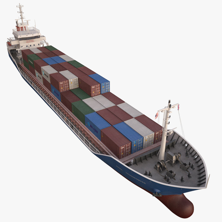 nave cargo royalty-free 3d model - Preview no. 5