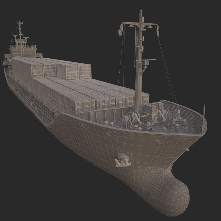 nave cargo royalty-free 3d model - Preview no. 22