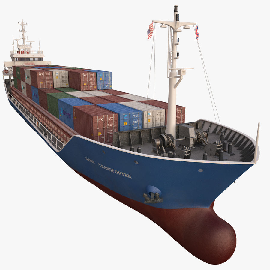 nave cargo royalty-free 3d model - Preview no. 12