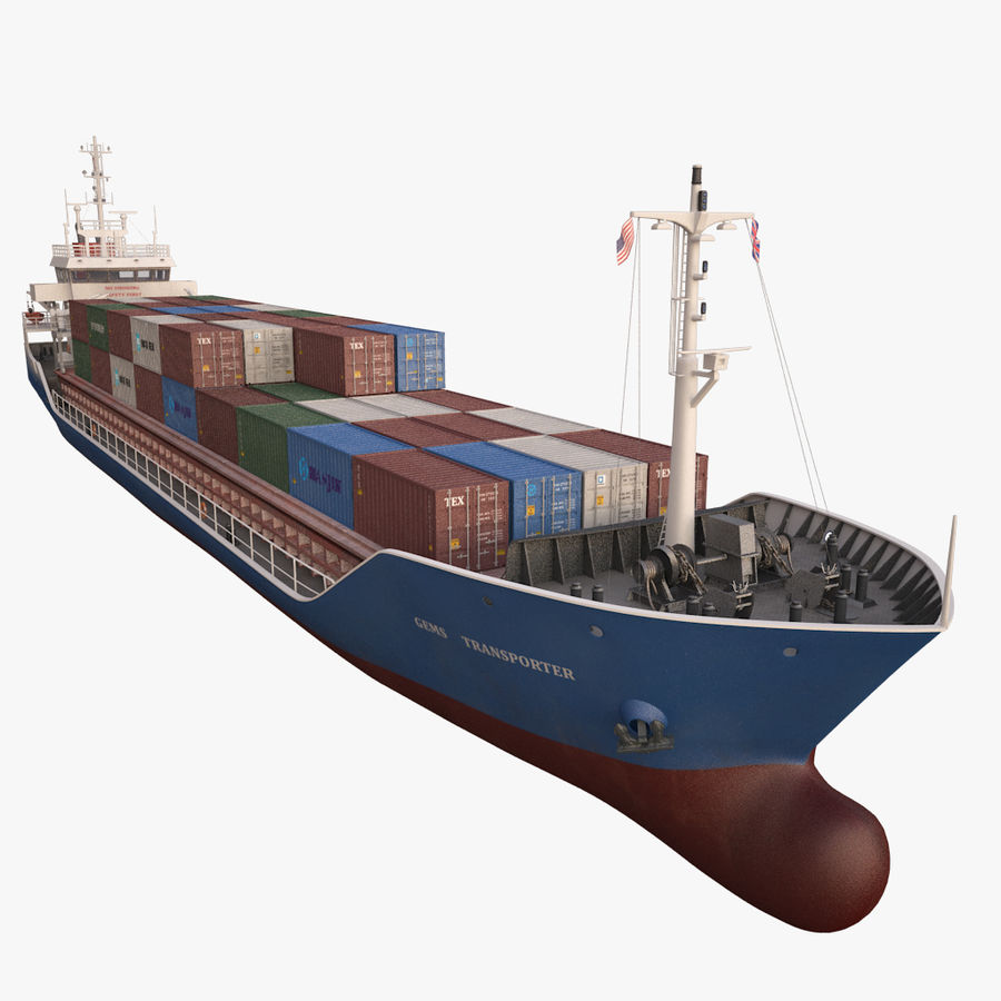 nave cargo royalty-free 3d model - Preview no. 18