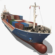 containerschip 3d model