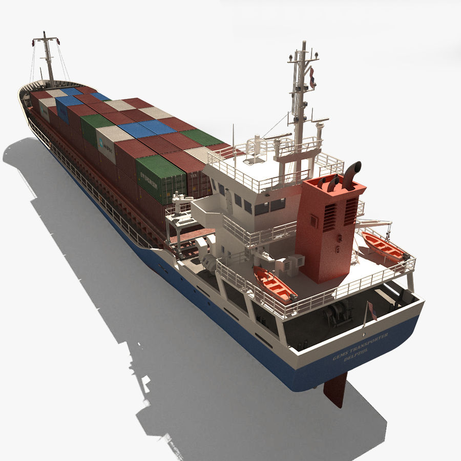 nave cargo royalty-free 3d model - Preview no. 7