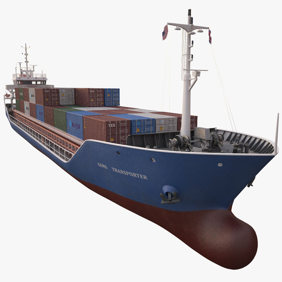 nave cargo royalty-free 3d model - Preview no. 10
