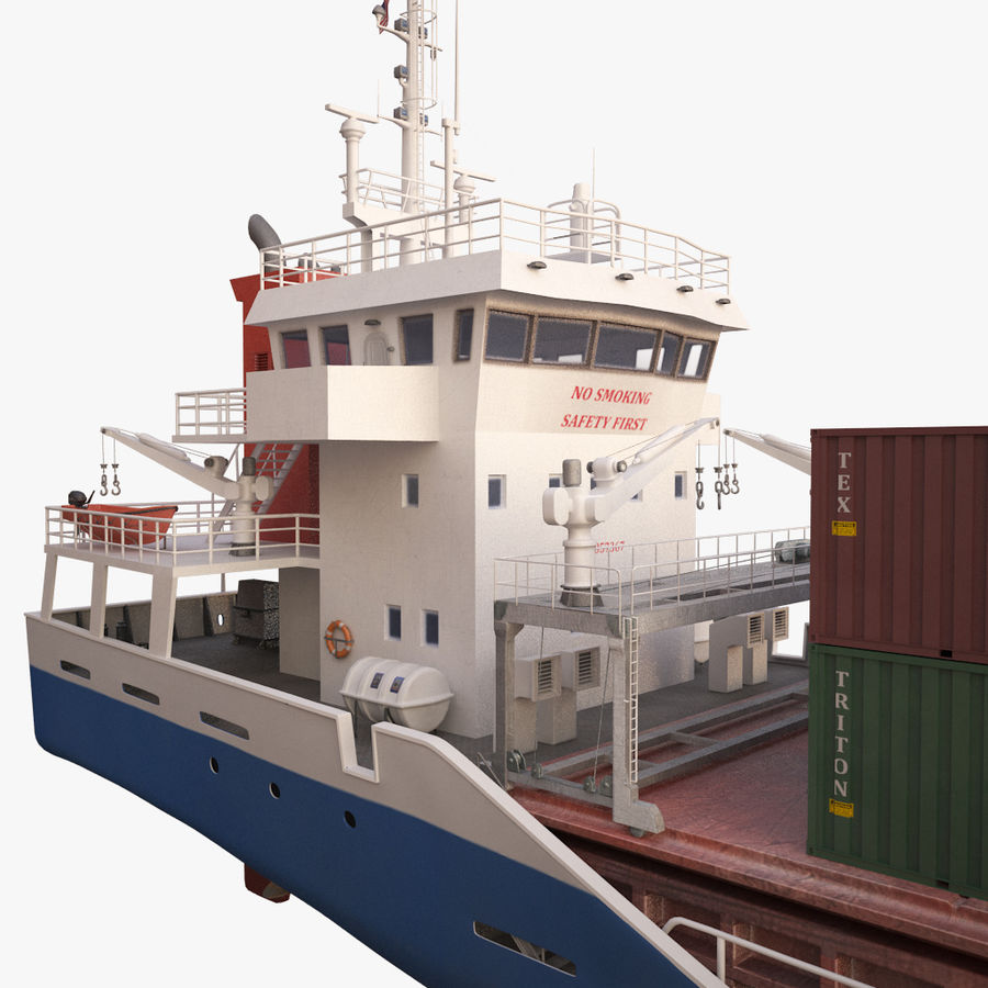 nave cargo royalty-free 3d model - Preview no. 15