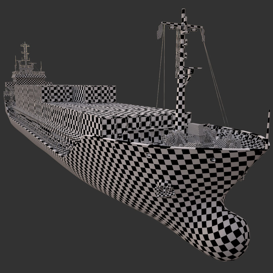 nave cargo royalty-free 3d model - Preview no. 24