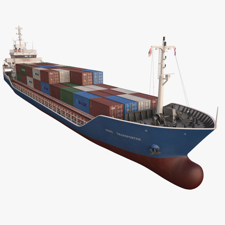 nave cargo royalty-free 3d model - Preview no. 13