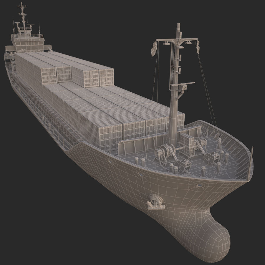 nave cargo royalty-free 3d model - Preview no. 20