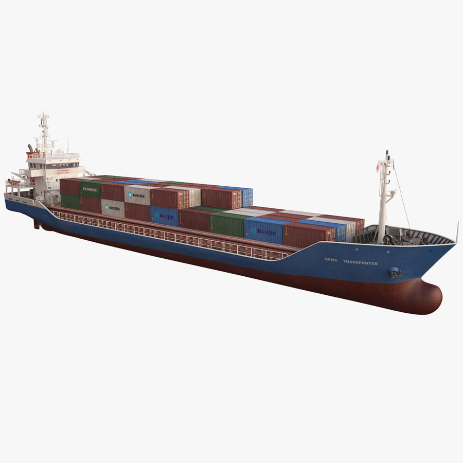 nave cargo royalty-free 3d model - Preview no. 19