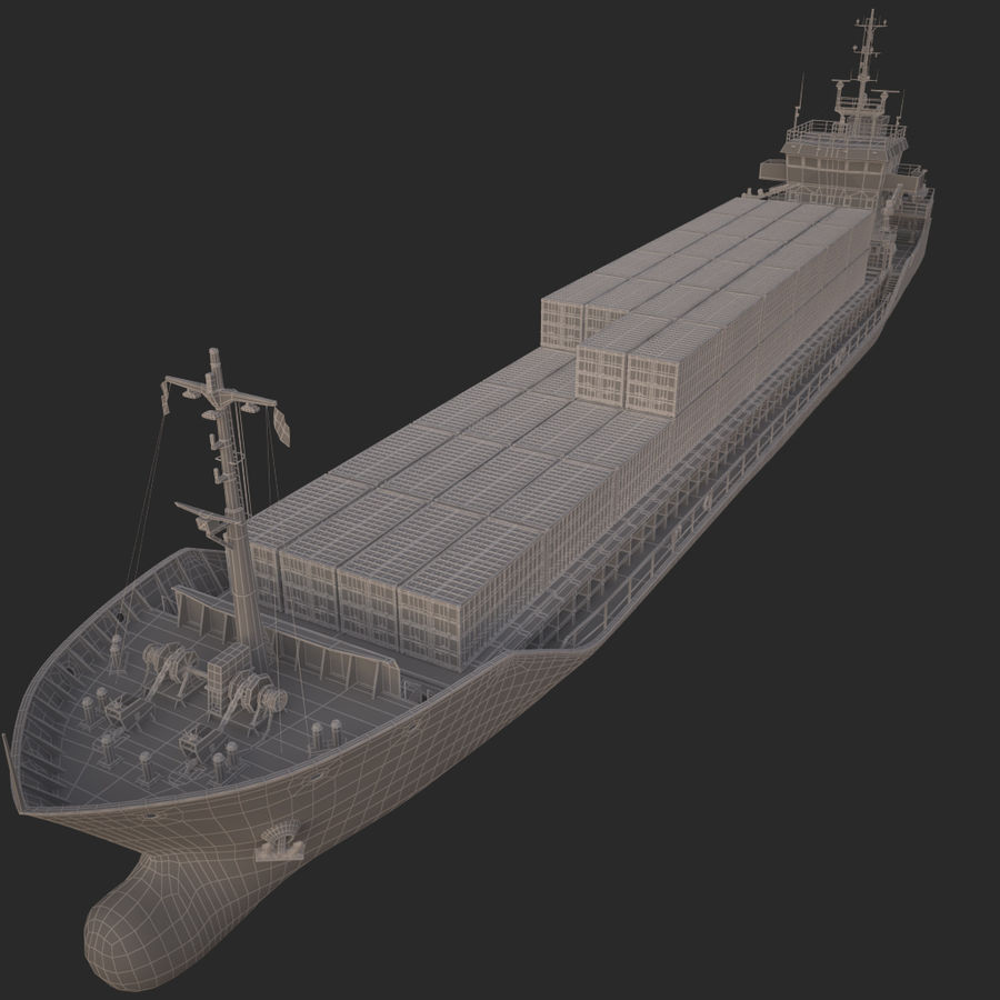 nave cargo royalty-free 3d model - Preview no. 23