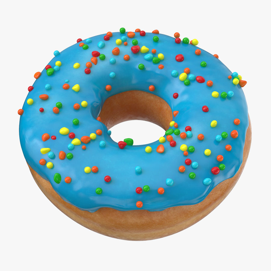 Donut 01 - Blue royalty-free 3d model - Preview no. 1