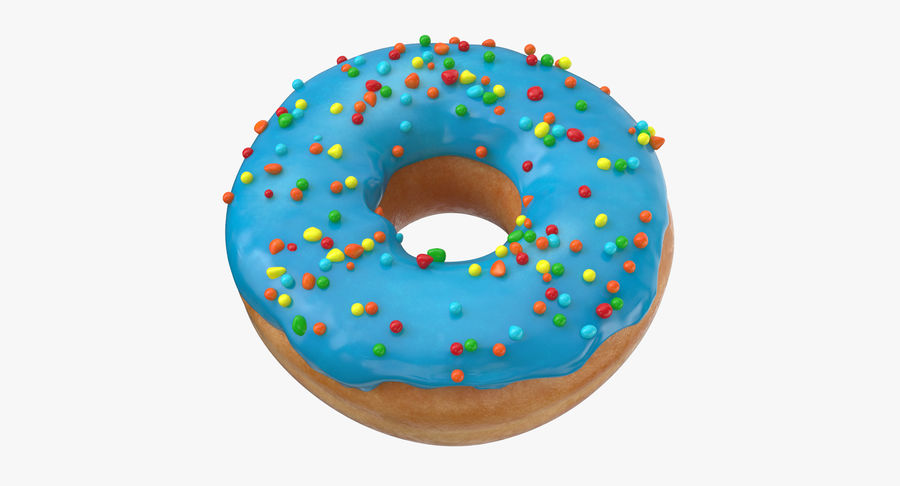 Donut 01 - Blue royalty-free 3d model - Preview no. 2