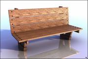 Деревянная скамья V1 3d model