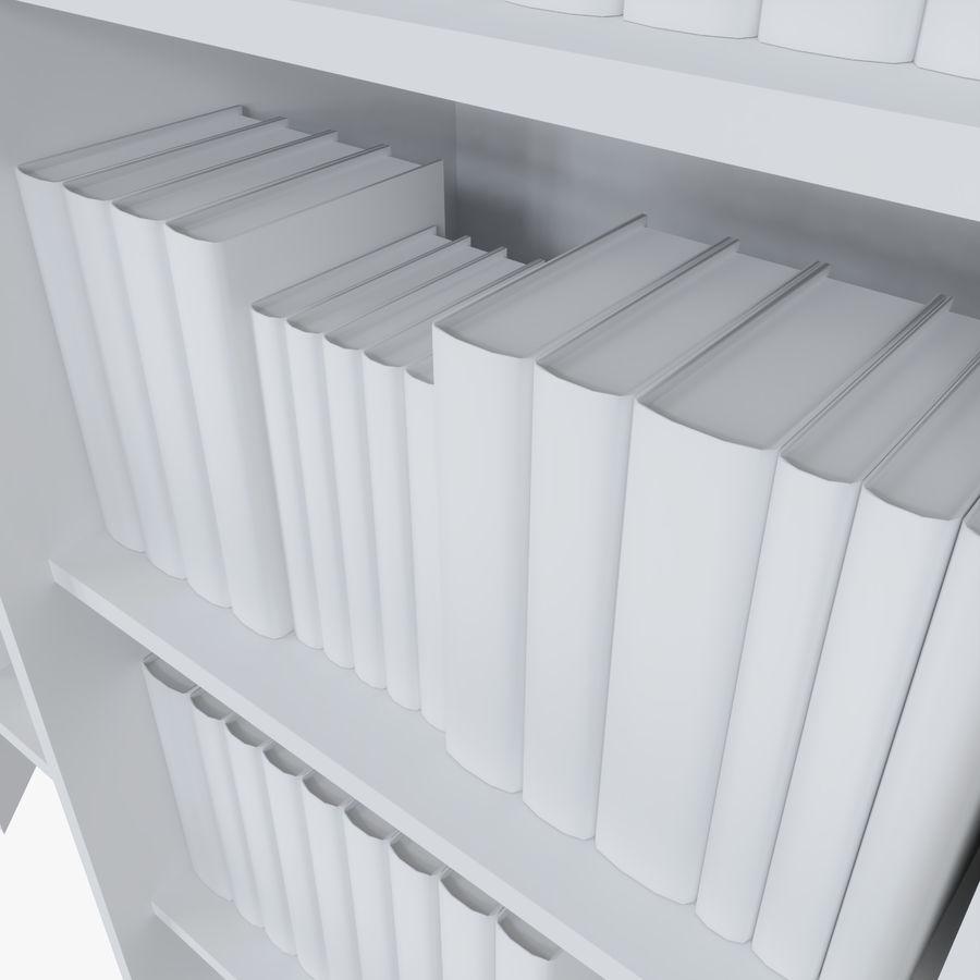 Книжные полки с книгами royalty-free 3d model - Preview no. 9