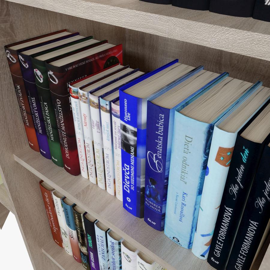Книжные полки с книгами royalty-free 3d model - Preview no. 8