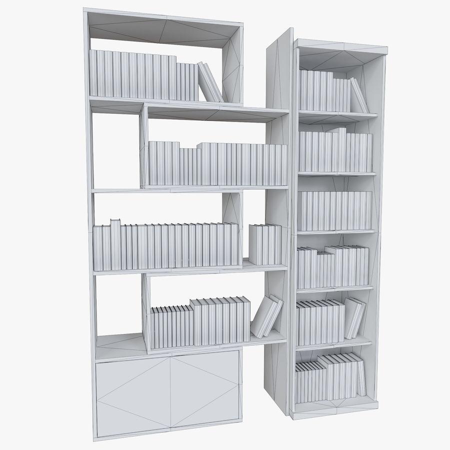 Книжные полки с книгами royalty-free 3d model - Preview no. 4
