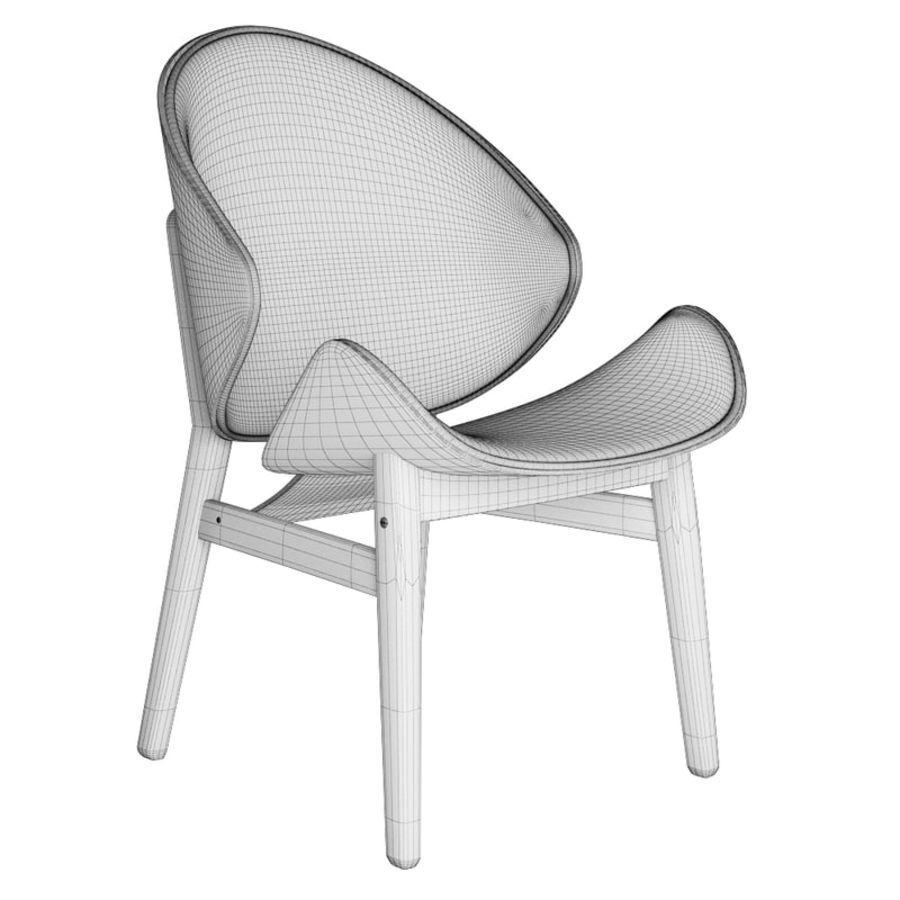 Hans Olsen chair royalty-free 3d model - Preview no. 5