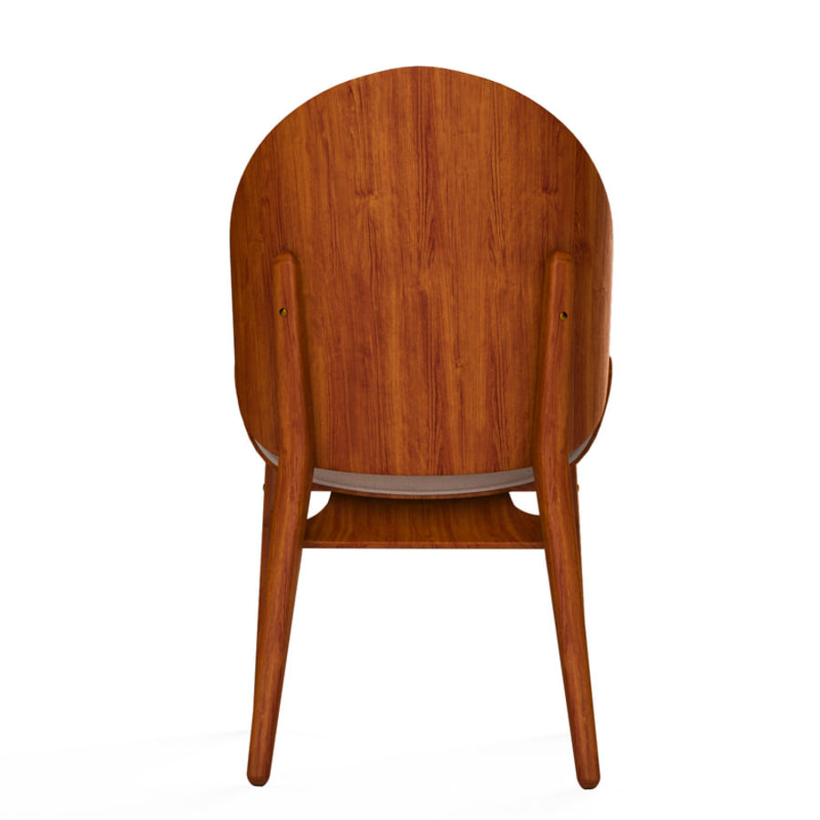 Hans Olsen chair royalty-free 3d model - Preview no. 4