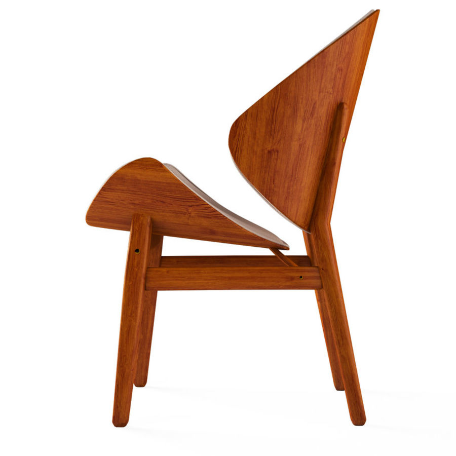 Hans Olsen chair royalty-free 3d model - Preview no. 3