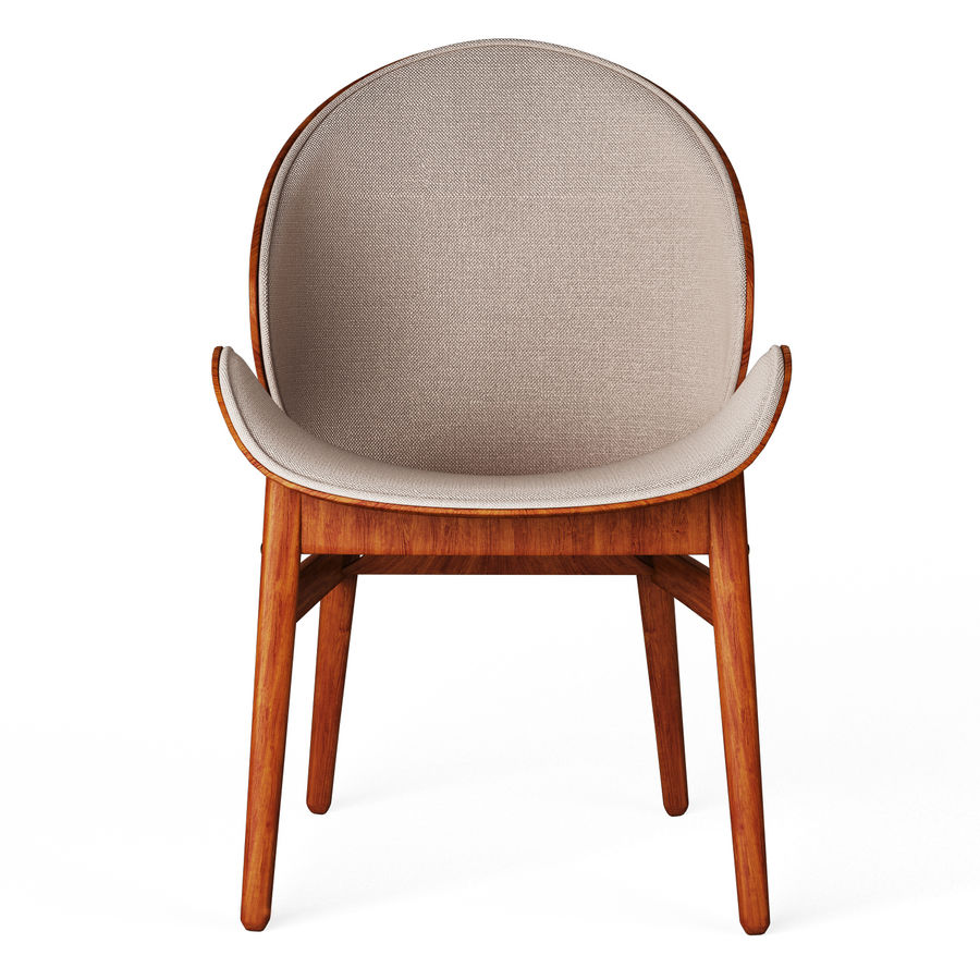Hans Olsen chair royalty-free 3d model - Preview no. 2