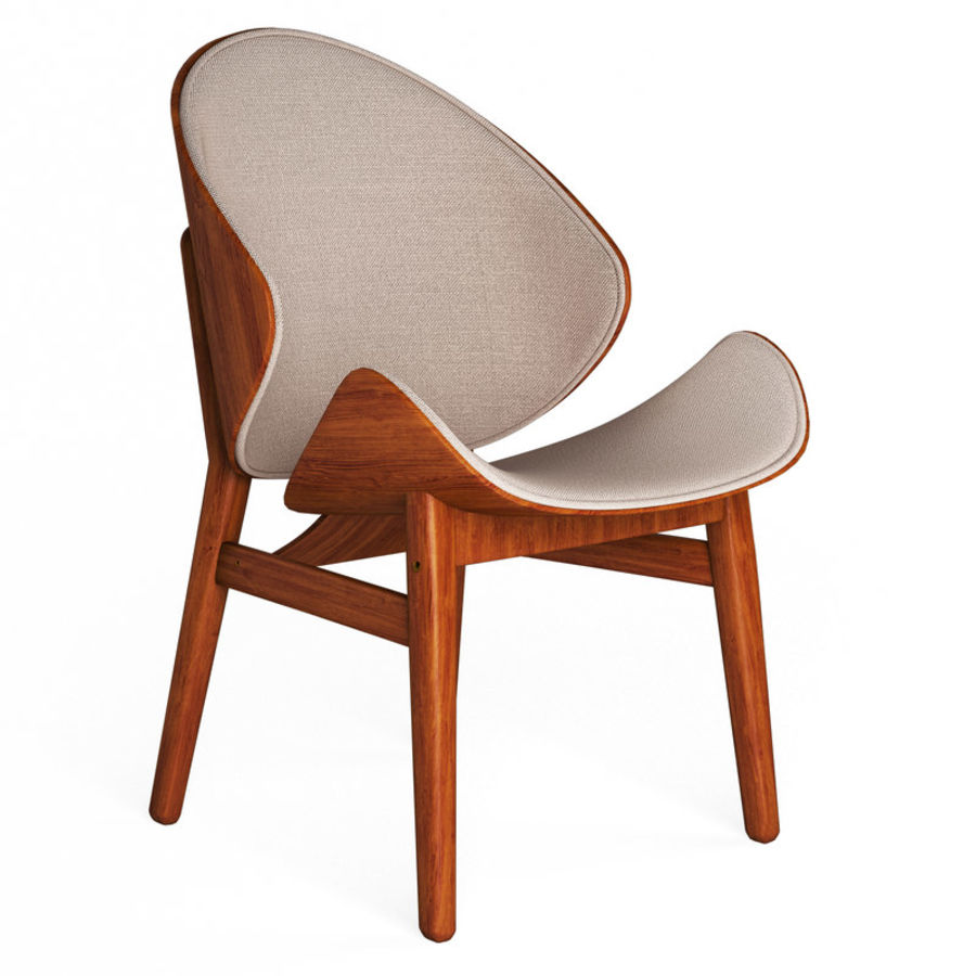 Hans Olsen chair royalty-free 3d model - Preview no. 1