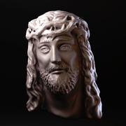 Jezus gezicht 3d model