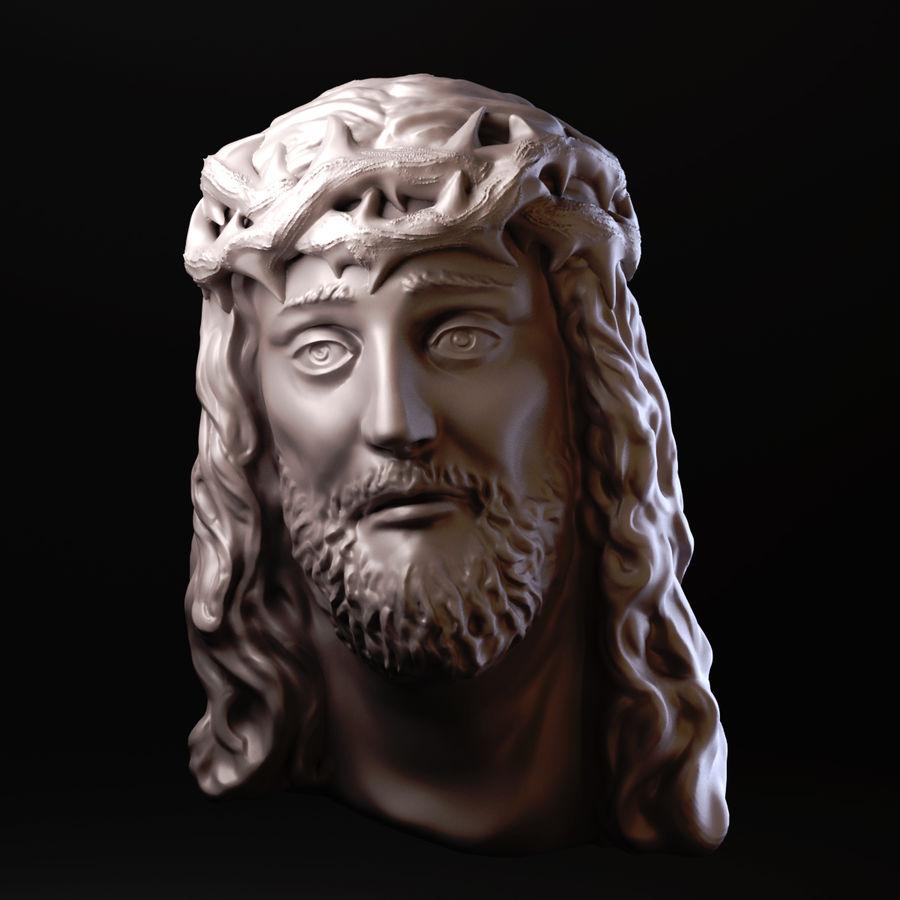 Twarz Jezusa royalty-free 3d model - Preview no. 1