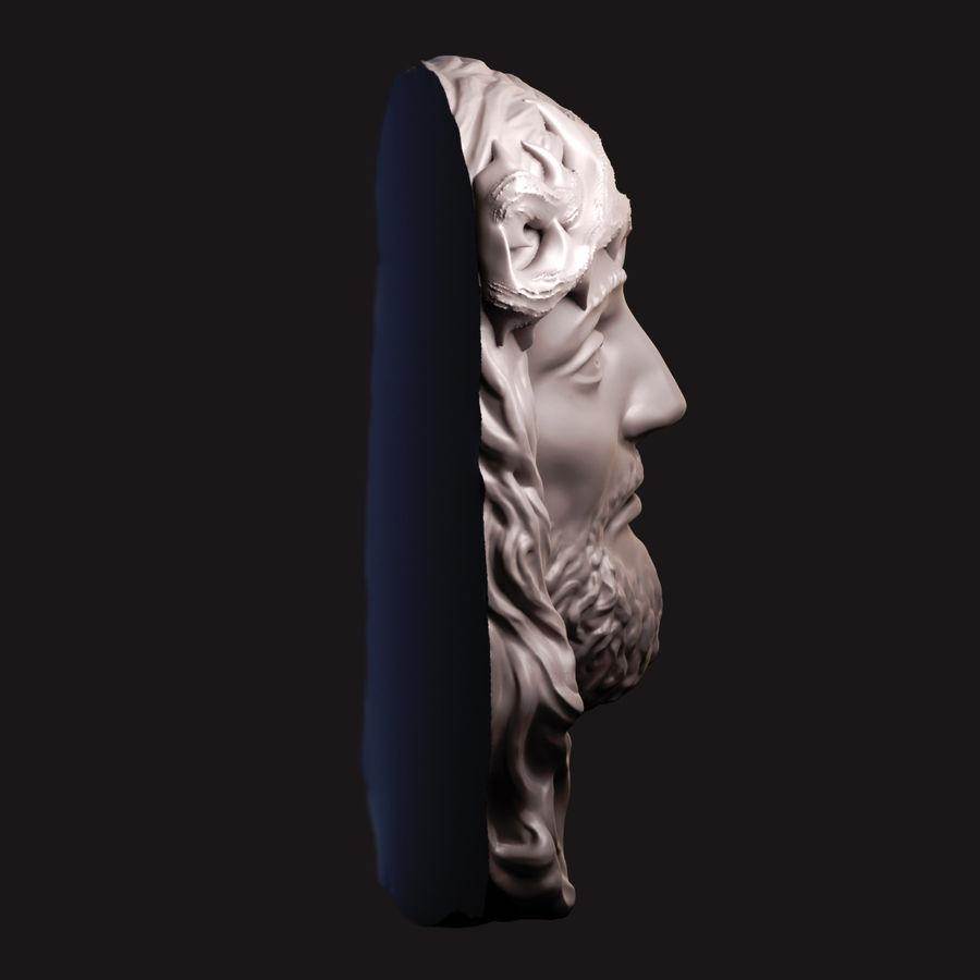 Twarz Jezusa royalty-free 3d model - Preview no. 5