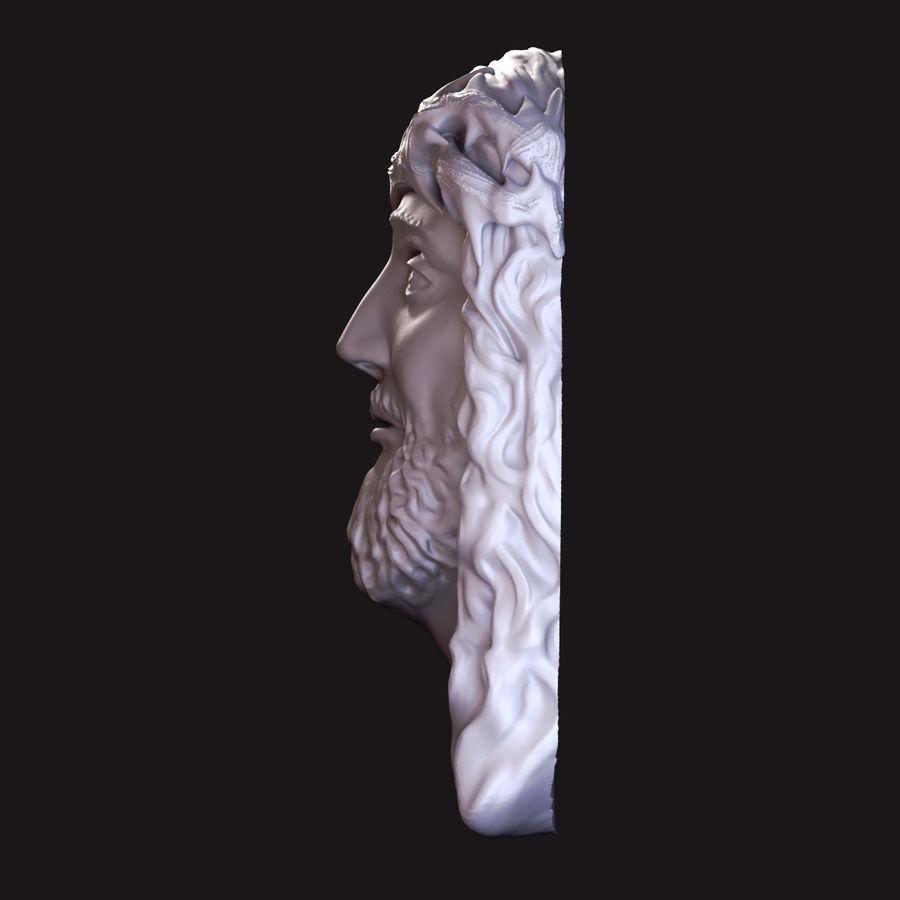 Twarz Jezusa royalty-free 3d model - Preview no. 4