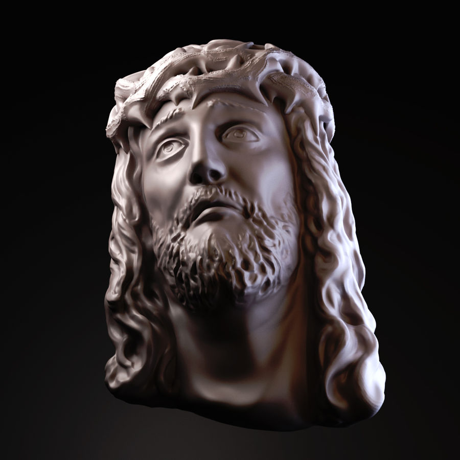 Twarz Jezusa royalty-free 3d model - Preview no. 3