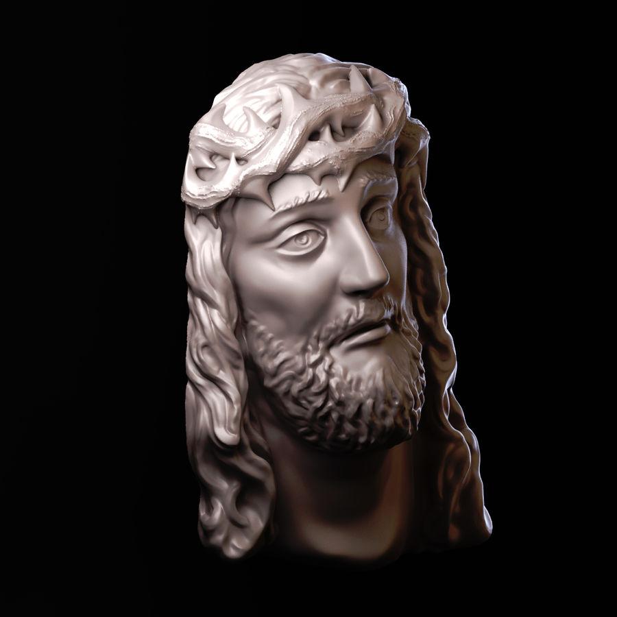 Twarz Jezusa royalty-free 3d model - Preview no. 2