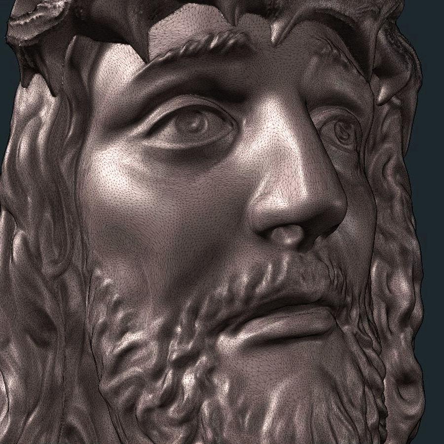 Twarz Jezusa royalty-free 3d model - Preview no. 6