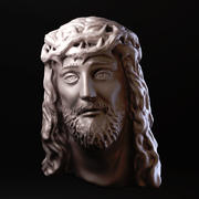 耶稣的脸 3d model