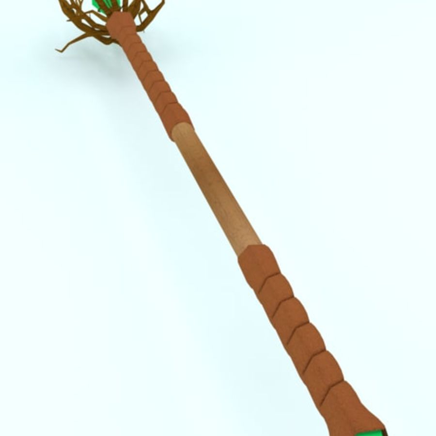 Fantasy Staff #3 (Krider) royalty-free 3d model - Preview no. 3