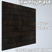 Płyta Low Poly 3d model