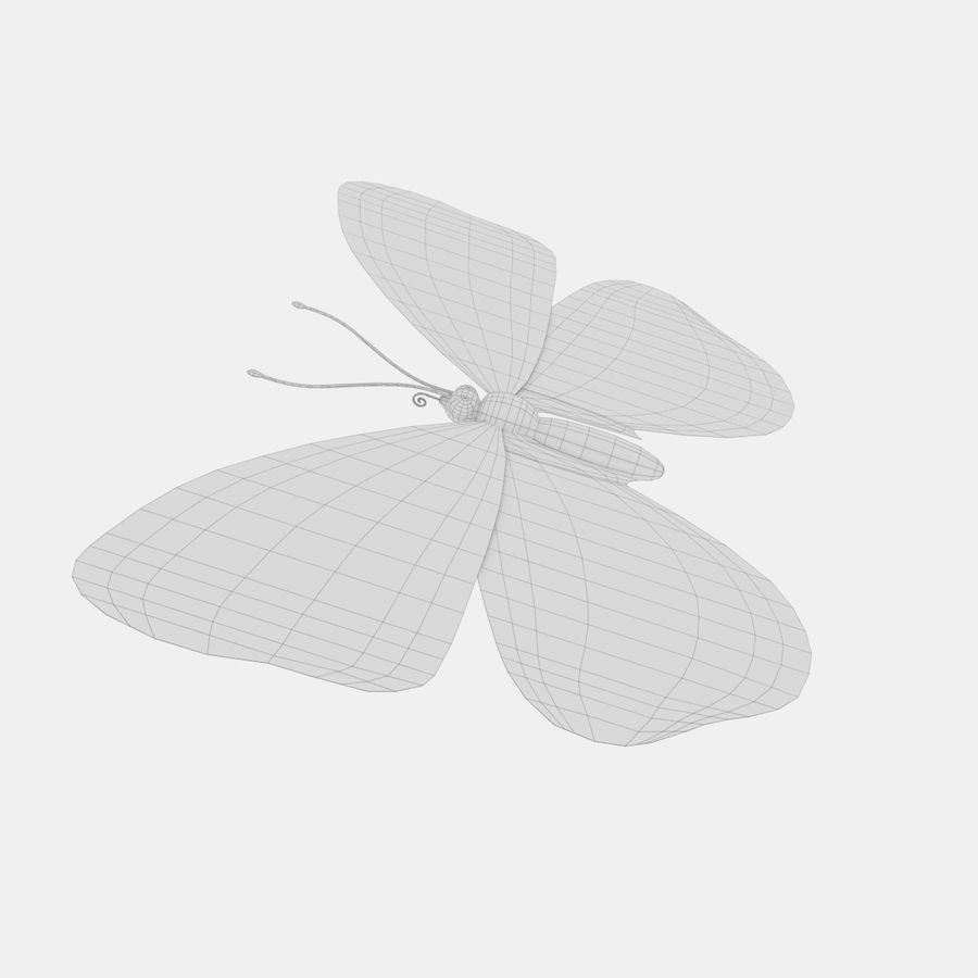 la farfalla royalty-free 3d model - Preview no. 12