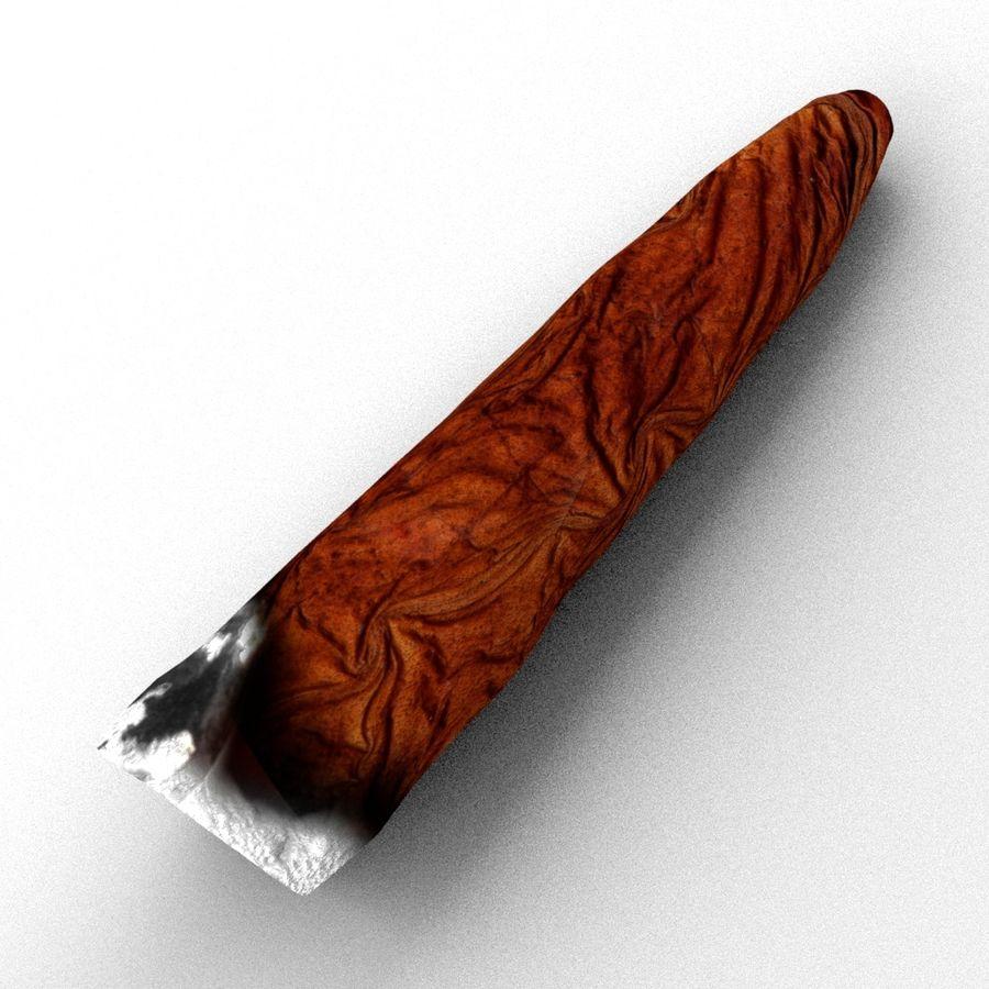 Cigar Blunt royalty-free 3d model - Preview no. 3