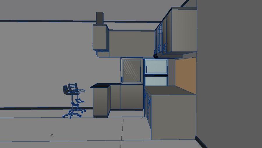 Furniture Kitchen Set royalty-free 3d model - Preview no. 3