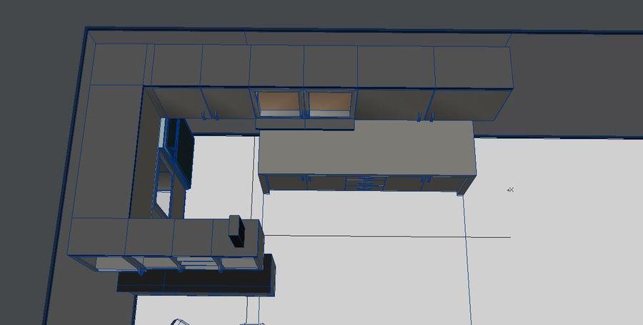 Furniture Kitchen Set royalty-free 3d model - Preview no. 4
