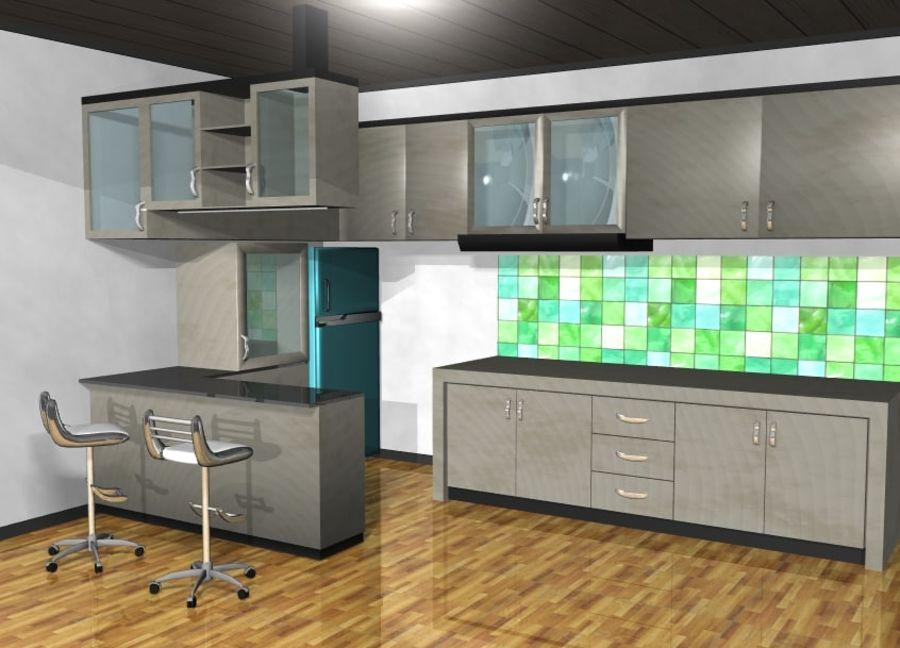 Furniture Kitchen Set royalty-free 3d model - Preview no. 1