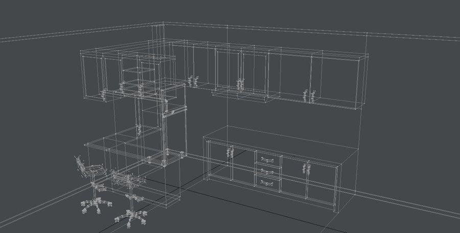Furniture Kitchen Set royalty-free 3d model - Preview no. 5