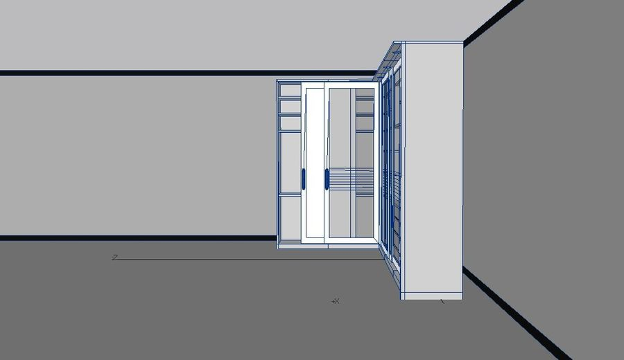Furniture storage cabinet royalty-free 3d model - Preview no. 4