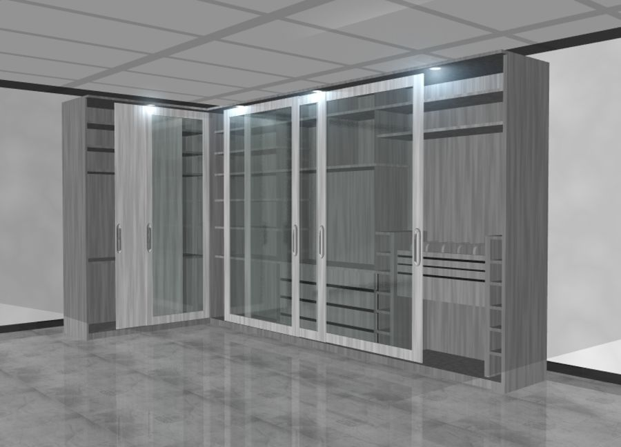 Furniture storage cabinet royalty-free 3d model - Preview no. 1